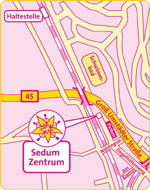 Sedum Zentrum und Naturheilpraxis - Anfahrt